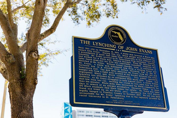 St. Petersburg unveils John Evans Lynching Memorial